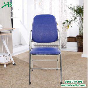 Ghế gấp lưng dài xanh chân inox VB-3205