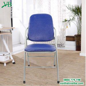 Ghế gấp lưng dài xanh chân sơn VB-3204