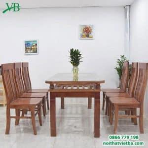 Bàn ăn 6 ghế gỗ xoan VB-4402