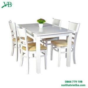 Bàn ăn cabin 4 ghế trắng VB-4412