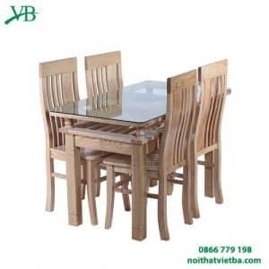 Bàn ăn gỗ sồi 4 ghế VB-4411