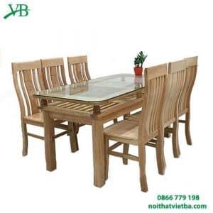 Bàn ăn gỗ sồi 6 ghế VB-4403