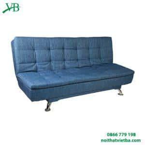 Ghế sofa giường màu xanh hai lớp đệm VB-6002