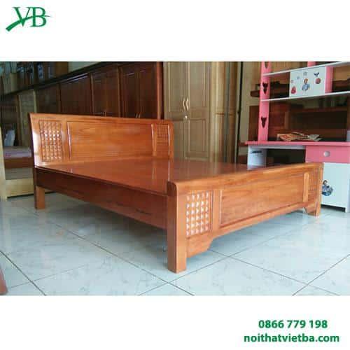 Giường gỗ xoan đào giá rẻ giát phản VB-4008