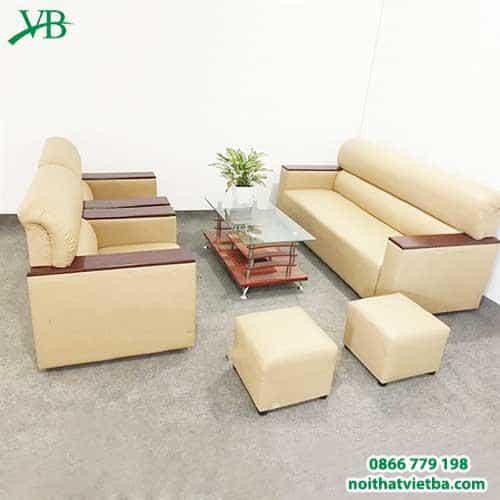 Sofa da Nhật màu vàng VB-6009