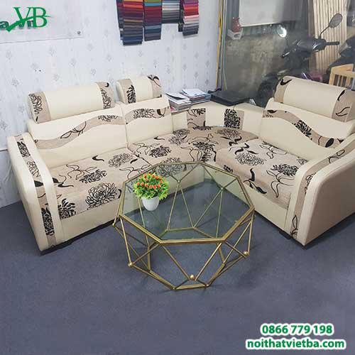 Sofa nỉ góc hoa cúc VB-6001