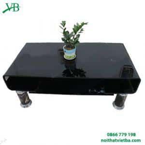 Bàn kính sofa cong đen VB-6610
