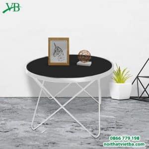 Bàn trà sofa chân tréo màu trắng VB-6612