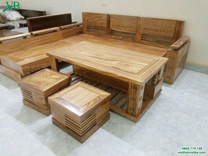 Mẫu bàn ghế hộp phòng khách chữ L độc đáo