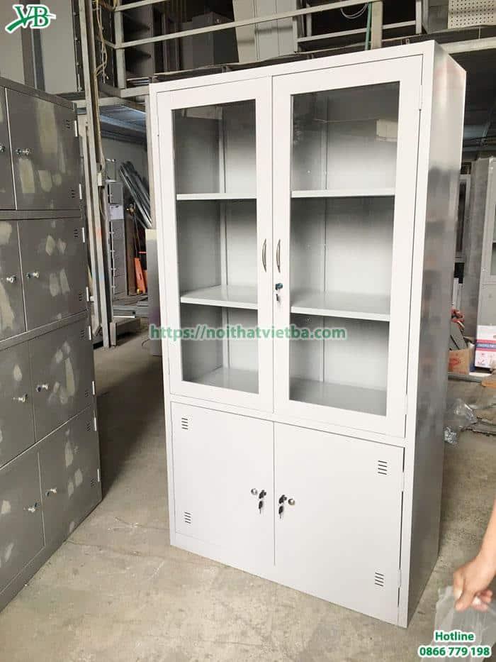 Mẫu tủ sắt văn phòng 2 buồng giá rẻ