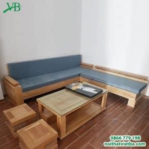 Bộ bàn ghế sa lông gỗ đẹp cao cấp VB-6313