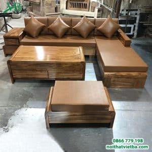 Sofa gỗ nguyên khối VB-6304