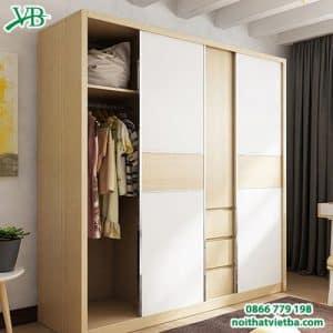 Tủ quần áo cửa lùa hiện đại đẹp cao cấp VB-4139