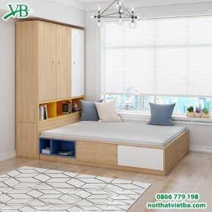 Tủ quần áo liền giường đẹp hiện đại cao cấp VB-4144