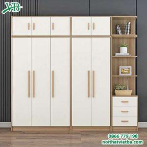 Mẫu tủ đựng quần áo bằng gỗ VB-4166