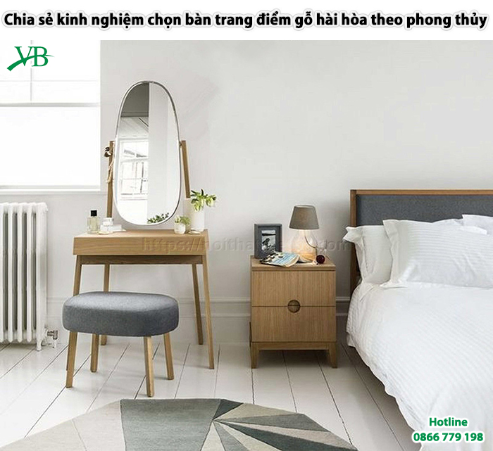 Chia Se Kinh Nghiem Chon Ban Trang Diem Go Hai Hoa Theo Phong Thuy 1